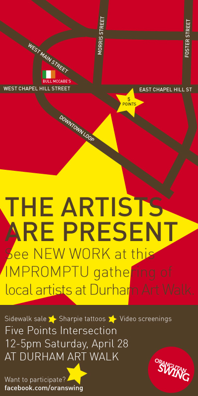 This Saturday! 'Artists are Present' in #Durham