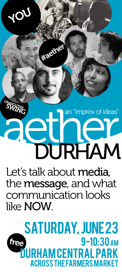 Three (non)Panelists confirmed for #Aether Durham, This Saturday!