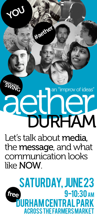 Aether Durham is this Satuday, 9AM at Durham Central Park Liberty Arts Pavillion