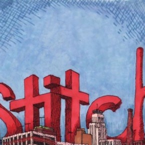 """Stitch Takes Durham"" drawing"