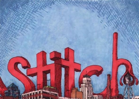 """Stitch Takes Durham"" drawing"