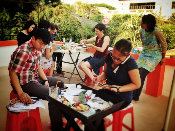Picture from 'Zine Making Workshop