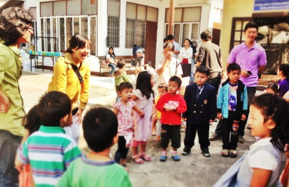 at Burmese refugees church